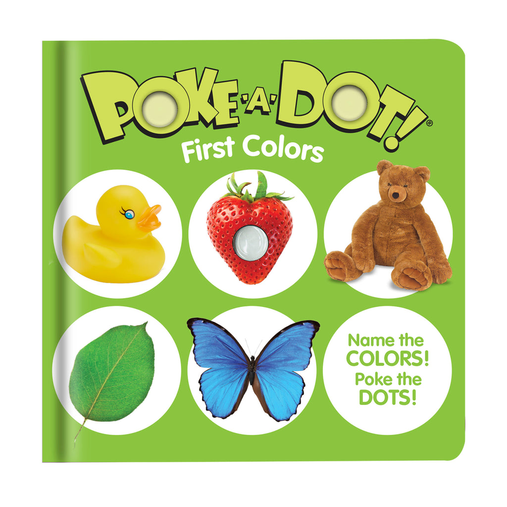 Poke A Dot Interactive Board Book, First Colors, Melissa and Doug, Book Page