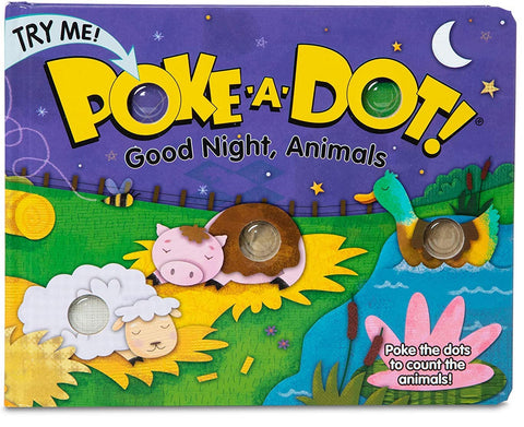 Melissa & Doug Poke-A-Dot Book, Good Night Animals
