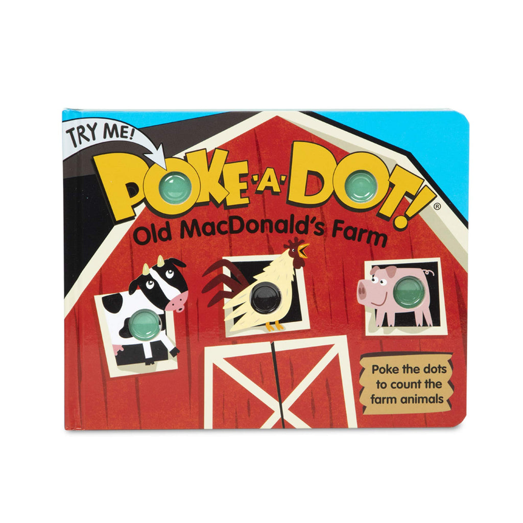 Melissa and Doug Poke-A-Dot Interactive Book, Old MacDonalds Farm, Front, Board Book