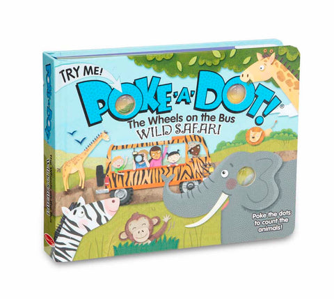 Melissa & Doug Poke-A-Dot Book, Wheel's on the Bus