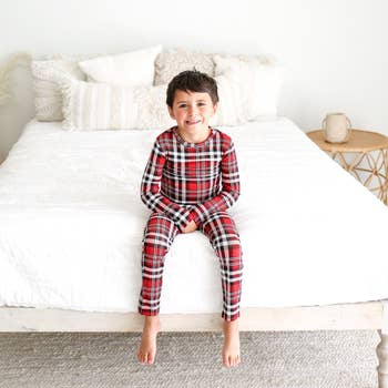 Noah Plaid red 2 piece lounge wear, unisex pajamas