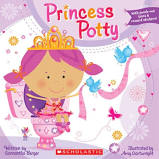 Princess potty training book for girls with crown and stickers