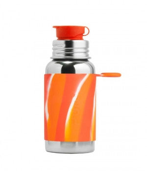 Pura Big Mouth Stainless Steal Bottle - Orange Swirl, 18 oz