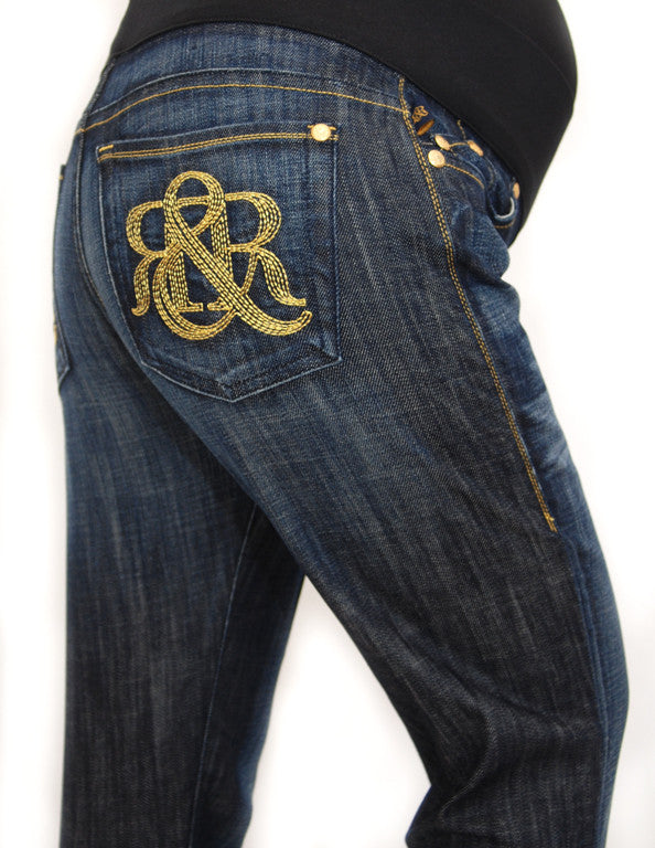 Rock & Republic Maternity Jeans - Jaguar Vixen Gold Monogram