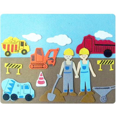 Activity, Travel Games & Toys, Felt Play Story Board, Construction Site