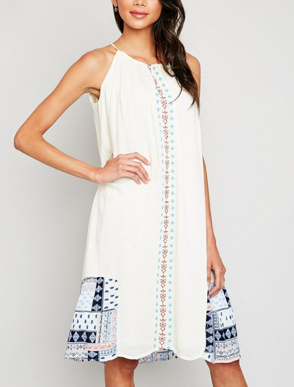 e94860a261ee ladies patchwork alinespring and summer dress
