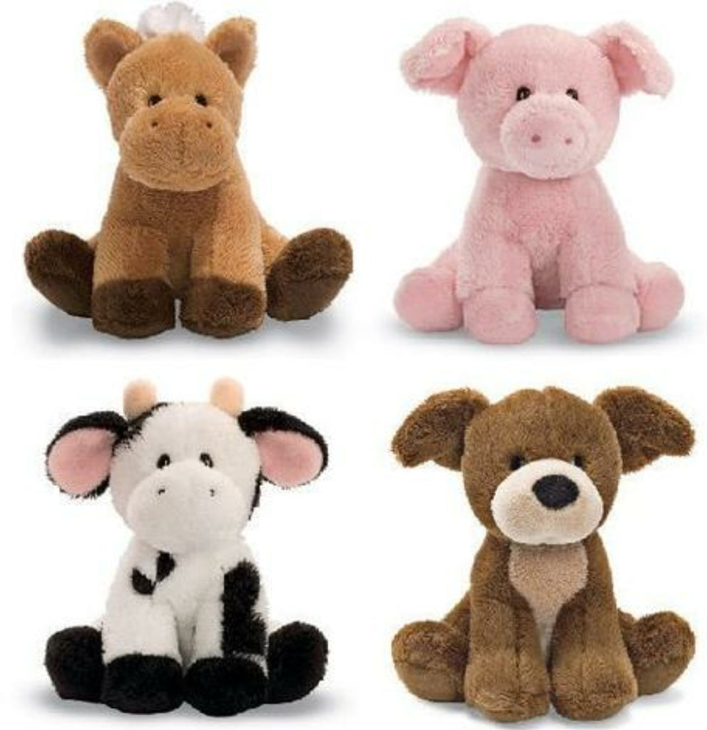 Gund Stuffed animals with realistic sounds, pony, pig, cow, puppy