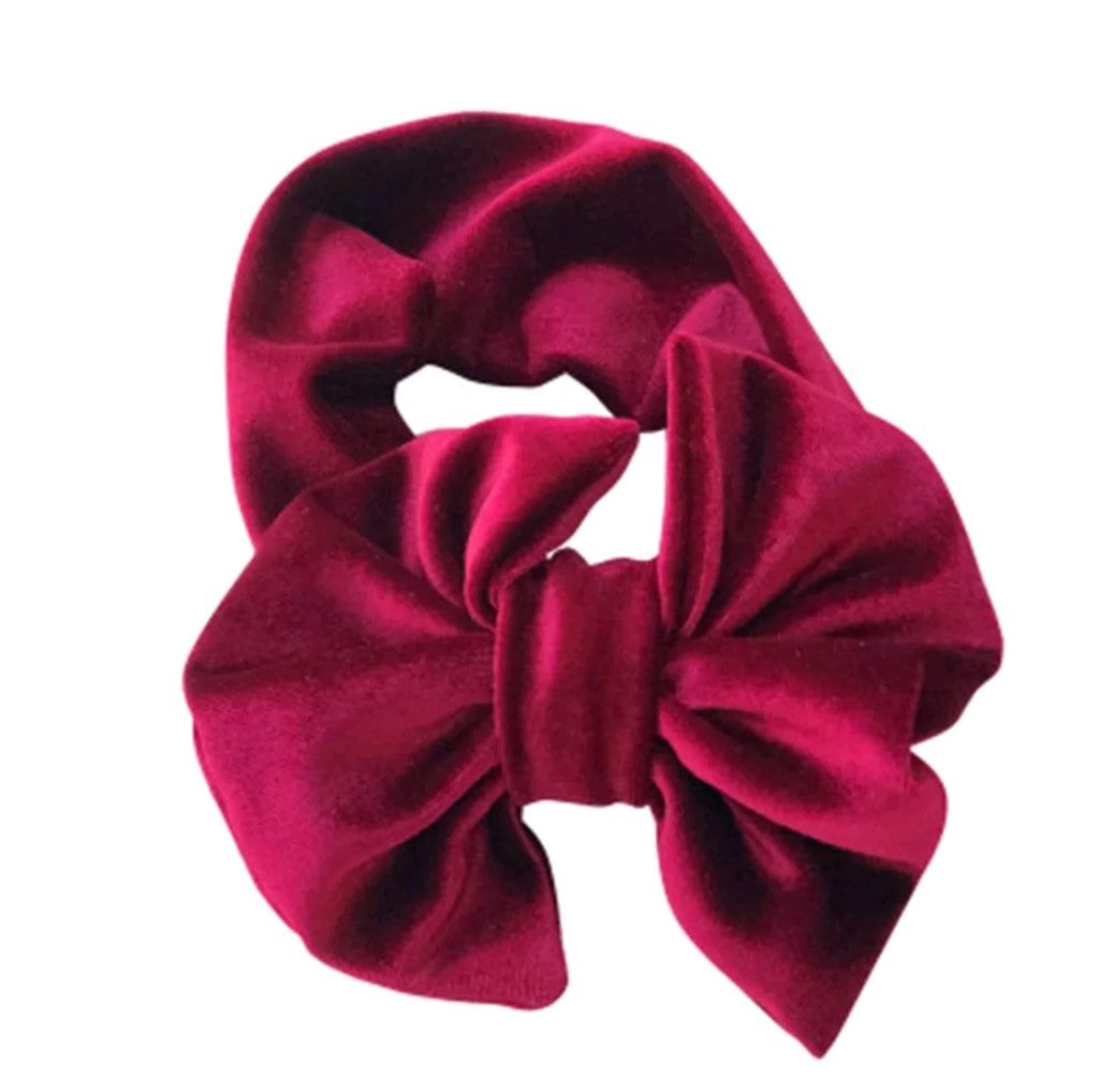 "5.5"" Velvet Bow Headband, Candy Apple Red"
