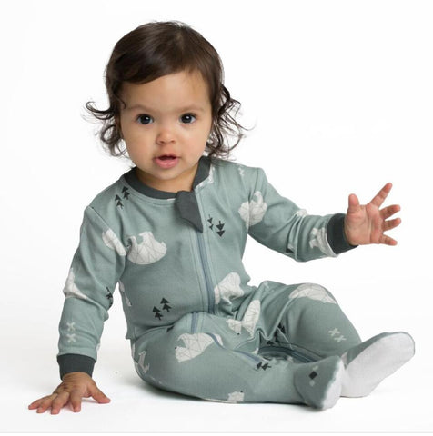 Organic Cotton Footie Pajama, Full Zipper, ZippyJams Unisex Polar