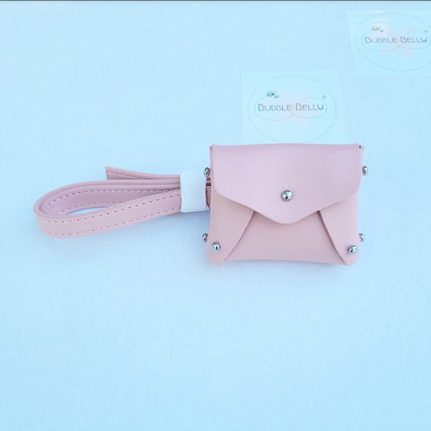 Mini Leatherette Fanny Pack, Belt Bag - Soft Blush Pink