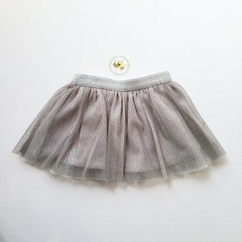 2974 Mayoral Glitter Tulle Tutu Skirt - Silver Grey