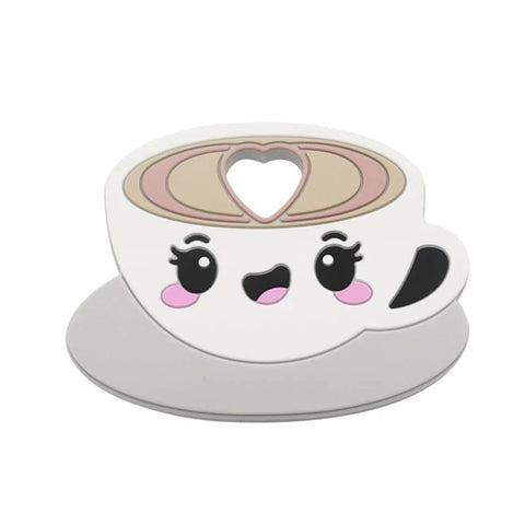 Silicone Teething & Chew Toy, Kawaii Cappuccino