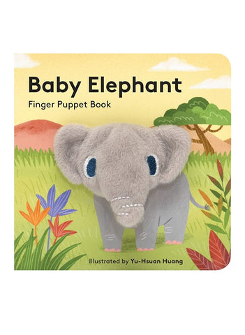 Chunky Mini Finger Puppet Board Book - Baby Elephant