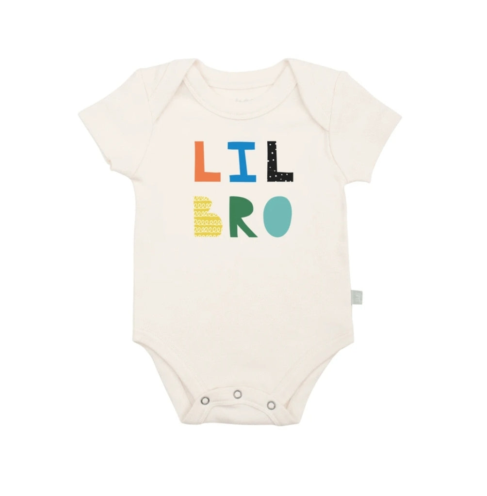 Organic Cotton Snap Bodysuit, Finn & Emma, Little Bro