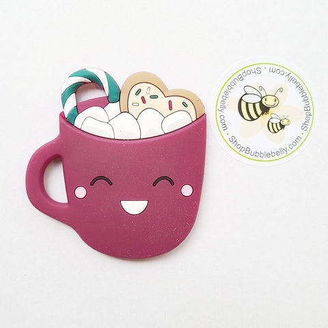Silicone Teething & Chew Toy, Hot Chocolate, Berry