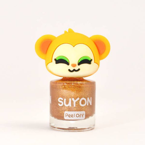 Suyon Nail Polish - Koko Bear, Sparkly Gold
