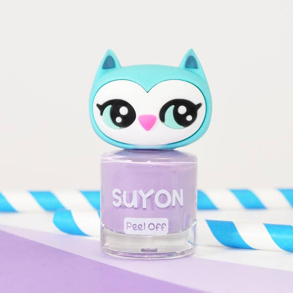 Suyon Kid Safe Nail Polish Water Based Peel Off Owl Lavender