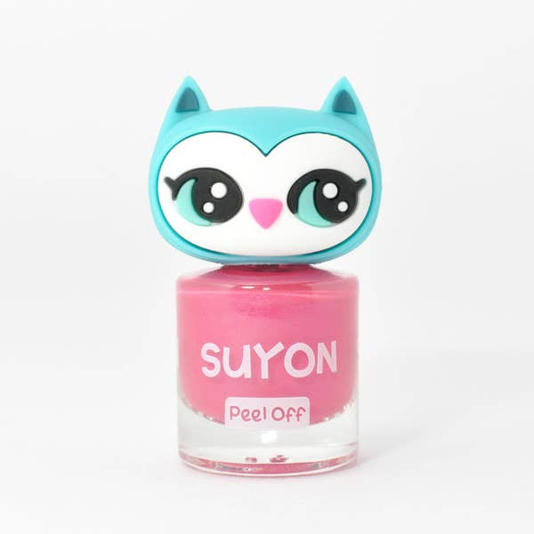 Suyon Kid Safe Nail Polish Water Based Peel Off Owl Pink