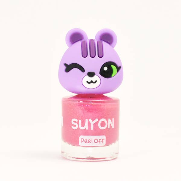 Suyon Kid Safe Nail Polish Water Based Peel Off Squirrel Pearly Pink