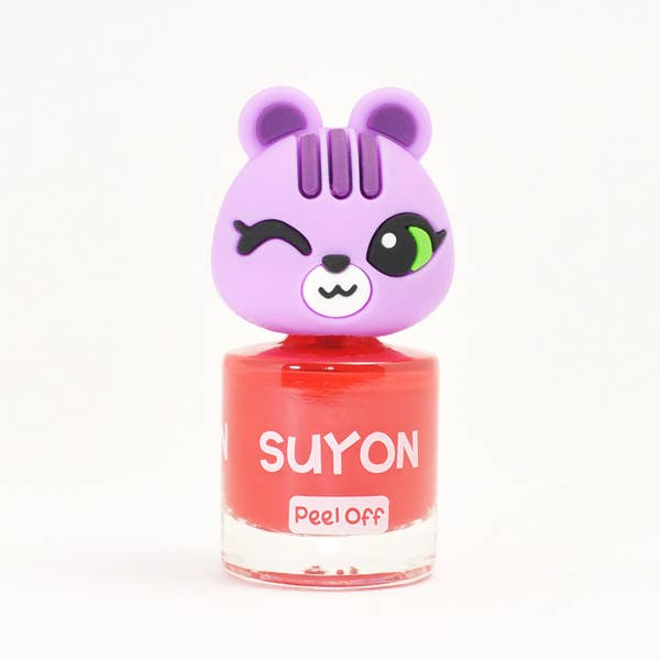 Suyon Kid Safe Nail Polish Water Based Peel Off Squirrel Red