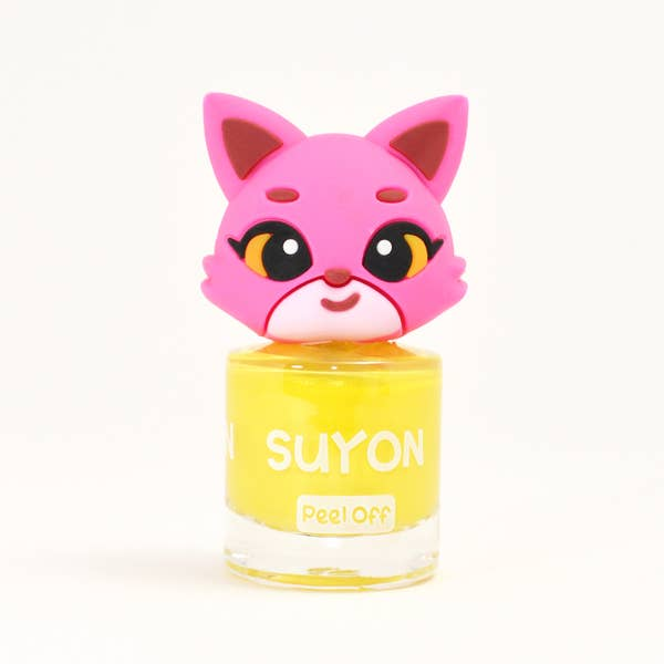 Suyon Kid Safe Nail Polish Water Based Peel Off Cat Bright Yellow