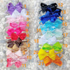 Austrian Crystal, Handmade Grosgrain Bow Elastic Headbands - Swarovski Crystal - (CLICK FOR COLOR OPTIONS)