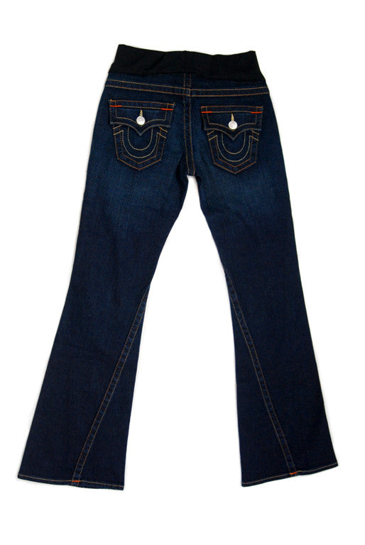 Maternity Jeans, True Religion Maternity - Joey Dark Wash, Bootcut (Petite)