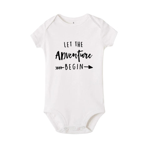 Let the Adventure Begin - Baby Snapsuit, White