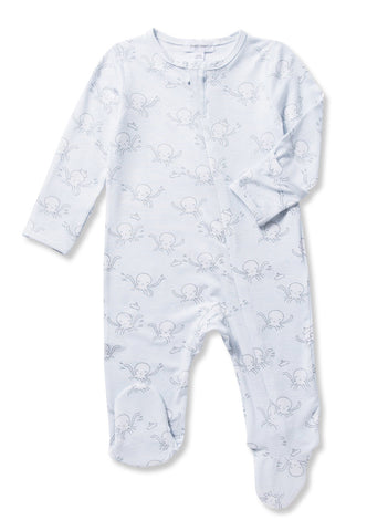 Angel Dear Bamboo Unisex Baby Footie Pajamas, Full Zipper, Octopus