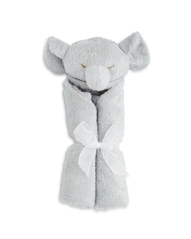 "Angel Dear 13"" x 13"" Cashmere-Soft Animal Blankie - Grey Elephant"