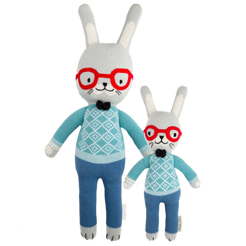 Cuddle+Kind Heirloom Hand-Knit Dolls, Benedict the Bunny (two sizes available)