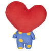 "Official Line Friends BT21 7"" Plush Stuffed Toy, Tata Heart"