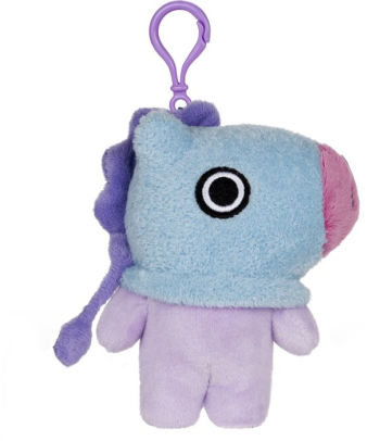 "BT21 Official Line Friends 4"" Plush Backpack Bag Clip, Mang Pony"