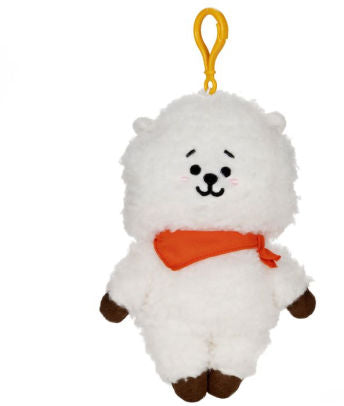 "BT21 Official Line Friends 4"" Backpack Bag Clip, RJ Alpaca"