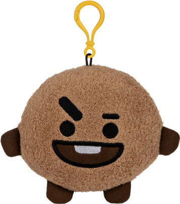 "BT21 Official Line Friends 4"" Backpack Bag Clip, Shooky Cookie"