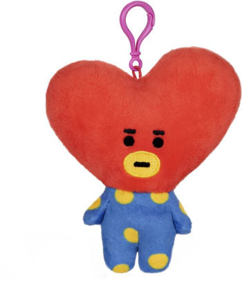 "BT21 Official Line Friends 4"" Plush Backpack Clip, Tata Heart"