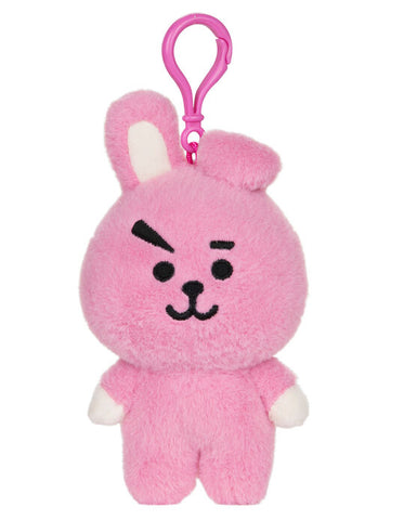 "BT21 Official Line Friends 4"" Plush Backpack Clip, Cooky Bunny"