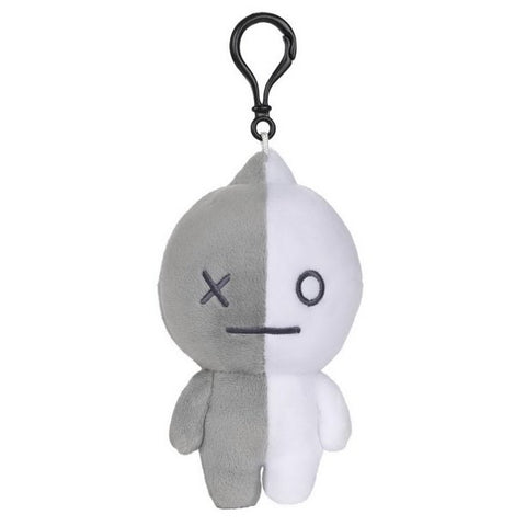 "BT21 Official Line Friends 4"" Backpack Bag Clip, Van Robot"