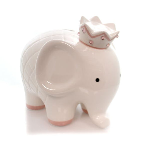Child to Cherish - Coco Ceramic Hand Painted Elephant Bank, Pink
