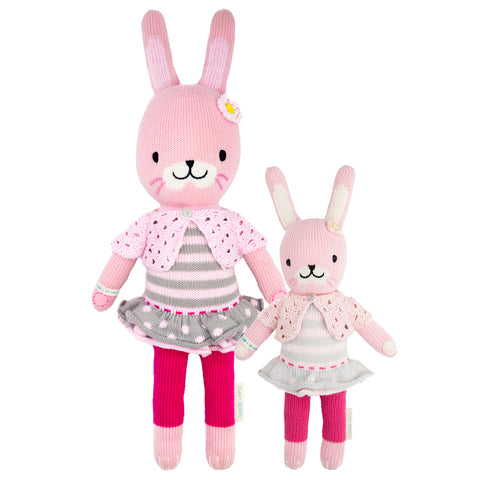 Cuddle+Kind Heirloom Hand-Knit Dolls, Chloe the Bunny (two sizes available)