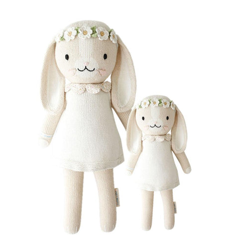Cuddle+Kind Heirloom Hand-Knit Dolls, Hannah the Bunny, Ivory (two sizes available)