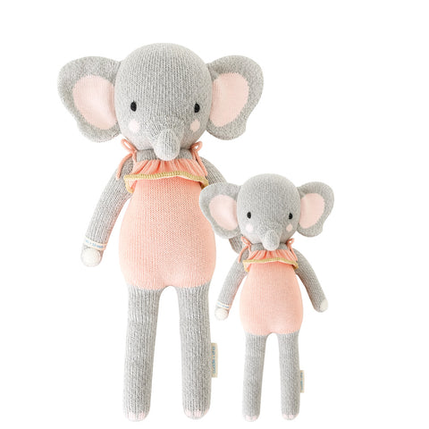 Cuddle+Kind Heirloom Hand-Knit Dolls, Eloise the Elephant (two sizes available)