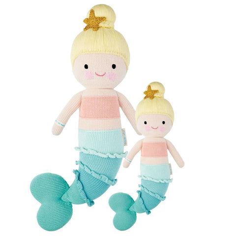 Cuddle+Kind Heirloom Hand-Knit Dolls, Skye the Mermaid (two sizes available)