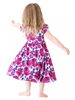 Posh Peanut Bamboo Eco Lux Twirl Dress, Violet Floral