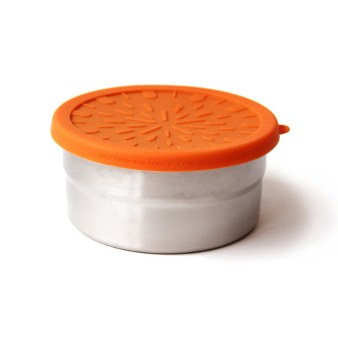 EcoLunch Round Stainless Steel Seal Cup Food Container, Large, 20 oz - Orange