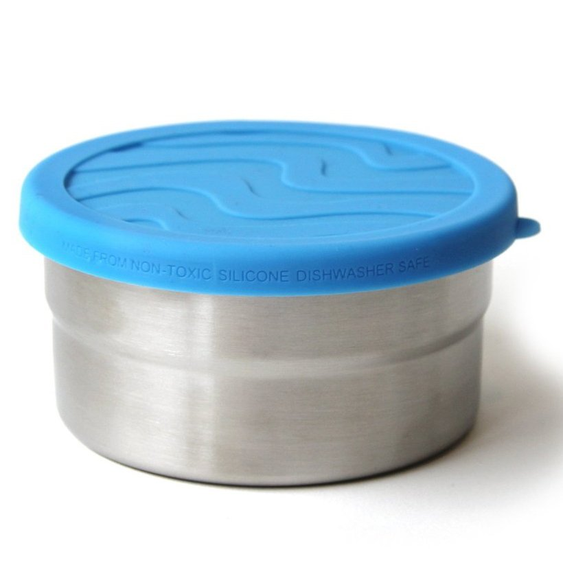 EcoLunch Round Stainless Steel Seal Cup Food Container, Medium, 12 oz - Ocean Blue