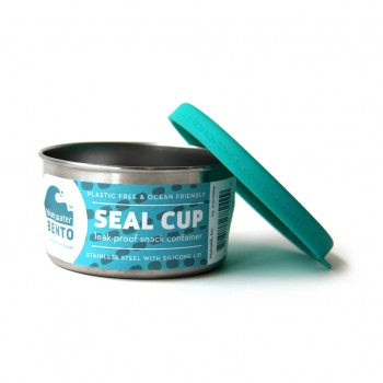 EcoLunch Round Stainless Steel Seal Cup Food Container, Small, 7 oz - Teal