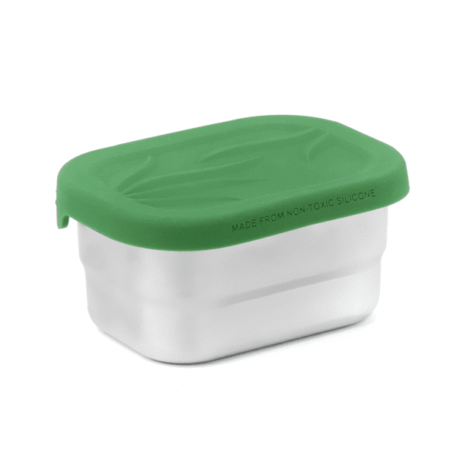 EcoLunch SplashBox Stainless Steel Mini Rectangular Pod, 5 oz - Green