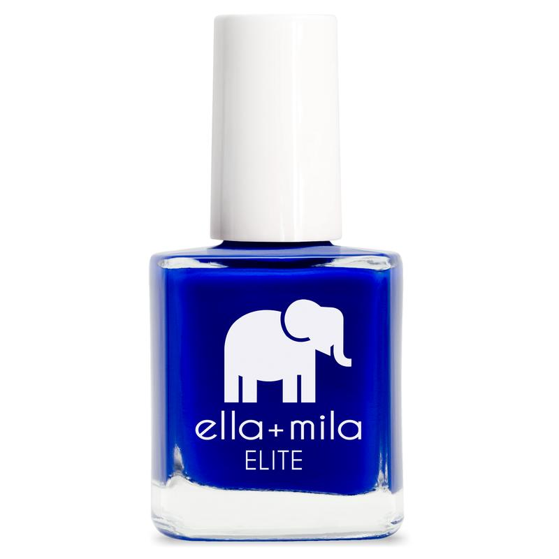 ella + mila cruelty-free natural, kid-friendly nail polish, bright royal blue