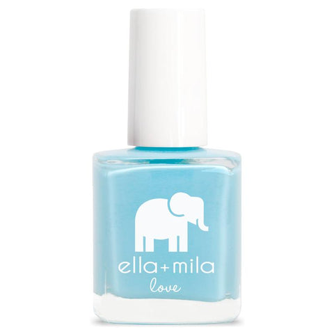Ella + Mila Cruelty-Free Natural, Kid-Friendly Nail Polish, Beach Resort Blue/Light Summer Blue